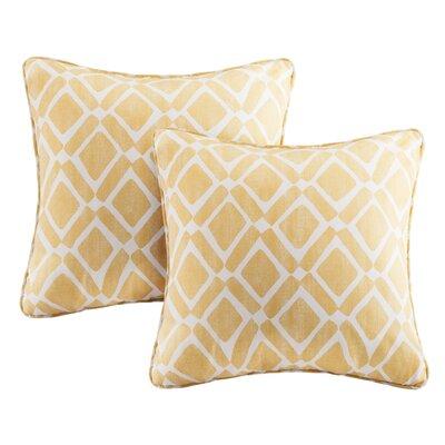 Annagrove Throw Pillow Color: Yellow