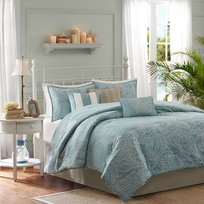 Annaley 7 Piece Reversible Comforter Set Size: King
