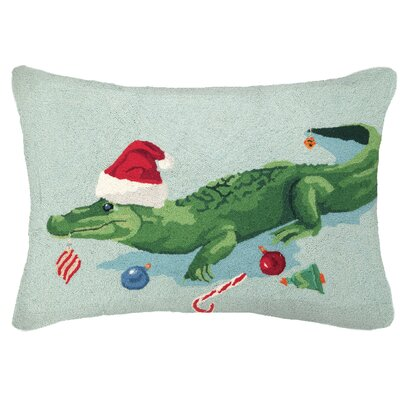 Livera Gator Hook Wool Throw Pillow