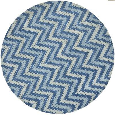 Craig Blue Area Rug Rug Size: Round 7
