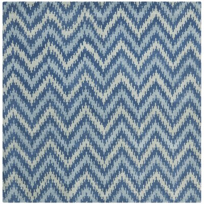 Fairlane Blue Area Rug Rug Size: Square 7