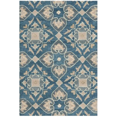 Leonia Blue/Grey Area Rug Rug Size: Rectangle 26 x 4