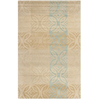 Leonia Beige Area Rug Rug Size: Rectangle 5 x 8