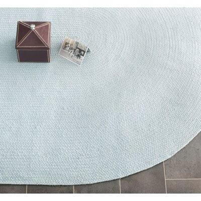 Lissie Hand Woven Light Blue Area Rug Rug Size: Oval 4 x 6