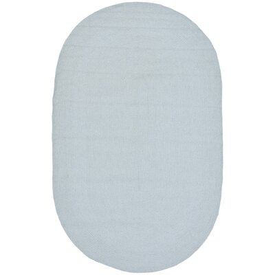 Lissie Light Blue Rug Rug Size: Oval 5 x 8