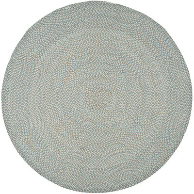 Lissie Hand-Woven Cotton Blue Area Rug Rug Size: Round 6