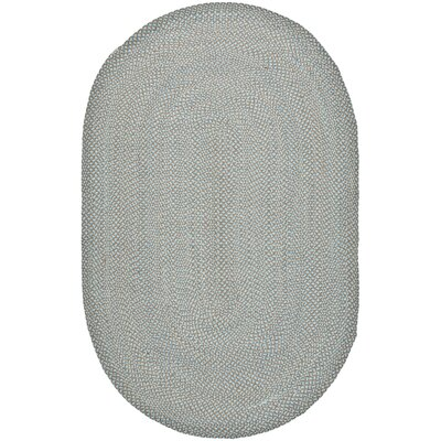 Lissie Hand-Woven Cotton Blue Area Rug Rug Size: Oval 6 x 9