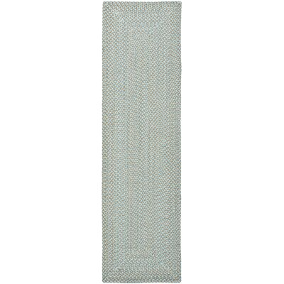 Lissie Hand-Woven Cotton Blue Area Rug Rug Size: Runner 23 x 8