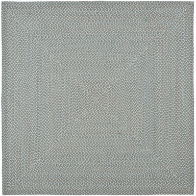 Lissie Hand-Woven Cotton Blue Area Rug Rug Size: Square 6