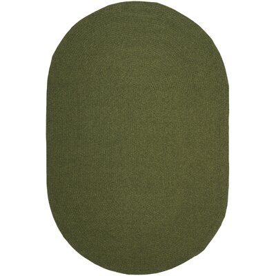 Lissie Hand-Woven Moss Green Area Rug Rug Size: Rectangle 26 x 4
