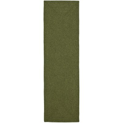 Lissie Hand-Woven Moss Green Area Rug Rug Size: Runner 23 x 8
