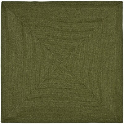 Lissie Hand-Woven Moss Green Area Rug Rug Size: Square 6