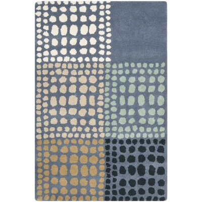 Leonia Grey/Multi Area Rug Rug Size: Rectangle 4 x 6