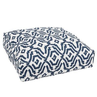 Audina Knifed Edge Indoor/Outdoor Floor Pillow Color: Navy