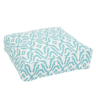 Audina Corded Edge Indoor/Outdoor Floor Pillow Color: Aqua