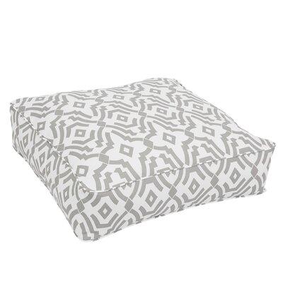 Audina Corded Edge Indoor/Outdoor Floor Pillow Color: Gray