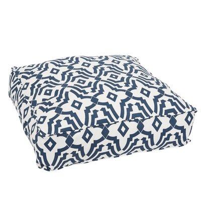 Audina Corded Edge Indoor/Outdoor Floor Pillow Color: Navy