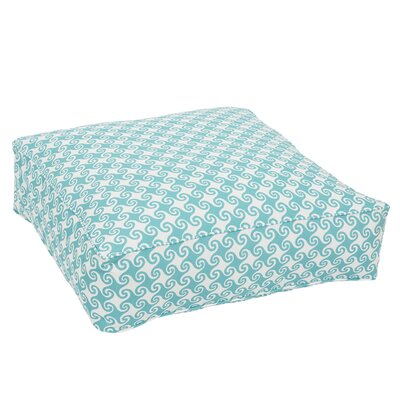Estelle Corded Edge Indoor/Outdoor Floor Pillow Color: Aqua