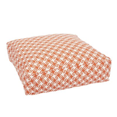 Estelle Corded Edge Indoor/Outdoor Floor Pillow Color: Orange