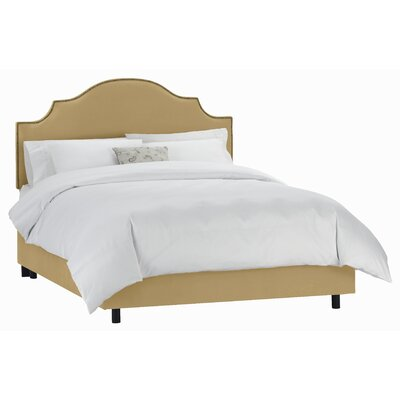 Revley Upholstered Panel Bed Size: King, Color: Honey