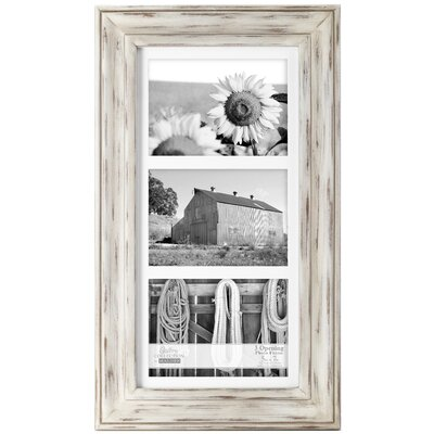 Rustic Wash Picture Frame Color: White