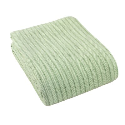 Suffren All Seasons Cotton Blanket Size: King, Color: Green
