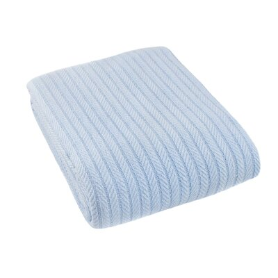 Suffren All Seasons Cotton Blanket Size: Full/Queen, Color: Light Blue