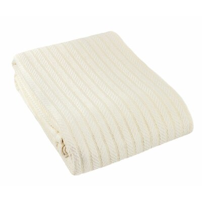 Suffren All Seasons Cotton Blanket Size: Twin, Color: Cream