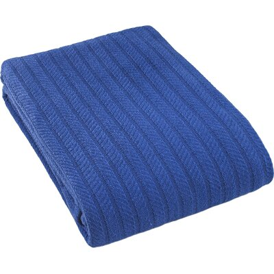 Suffren All Seasons Cotton Blanket Size: King, Color: Blue