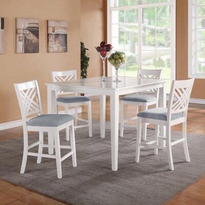 Iva 5 Piece Dining Set Finish: White