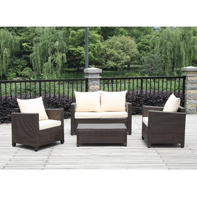 Belva 4 Piece Deep Seating Group with Cushions
