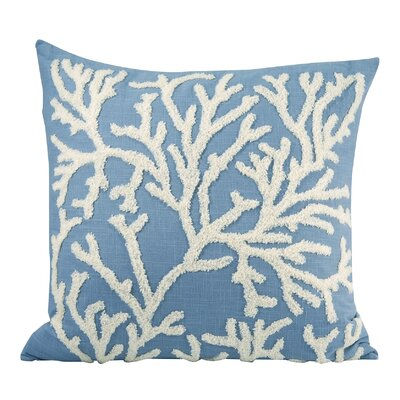 Jaelynn Cotton Throw Pillow Color: Cool Waters/Cream