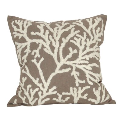 Jaelynn Cotton Throw Pillow Color: Cream/Smoke Pearl