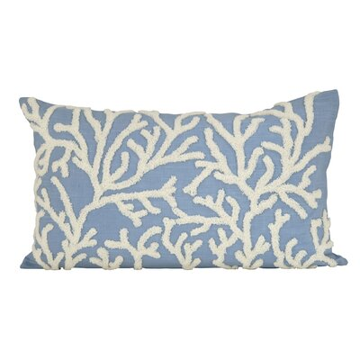 Conleth Cotton Lumbar Pillow Color: Cool Waters/Crema