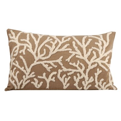 Jaelynn Cotton Lumbar Pillow Color: Smoke Pearl/Crema