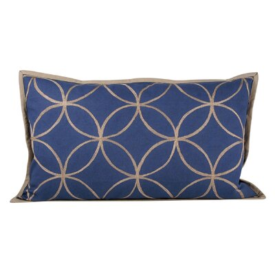 Lylah Alisha Indigo Cotton Lumbar Pillow