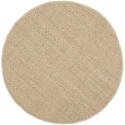 Richmond Hand-Woven Natural/Beige Area Rug Rug Size: Round 3
