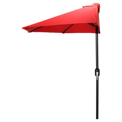 9 Sheehan Half Market Umbrella Fabric: Red