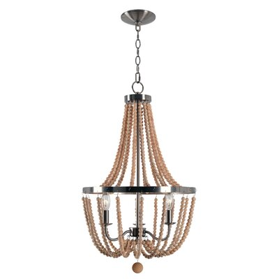 Nehemiah 3-Light Empire Chandelier Finish: Brushed Steel