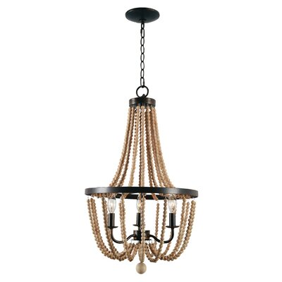 Nehemiah 3-Light Empire Chandelier Finish: Golden Bronze