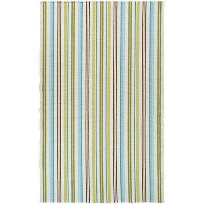 Artique Hand-Woven Caribbean Breeze/Green Area Rug Rug Size: 2 x 3