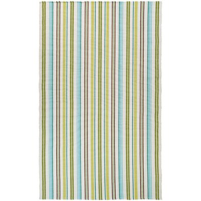 Artique Hand-Woven Caribbean Breeze/Green Area Rug Rug Size: Runner 23 x 8