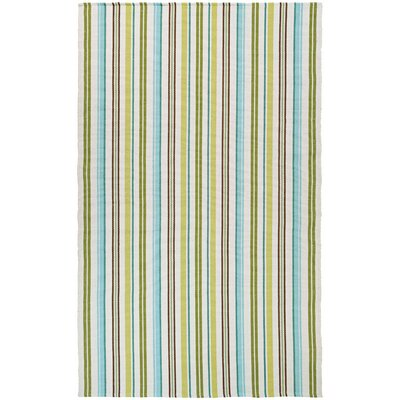 Artique Hand-Woven Caribbean Breeze/Green Area Rug Rug Size: 8 x 10
