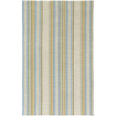 Artique Hand-Woven Blue/Yellow Area Rug Rug Size: Rectangle 2 x 3