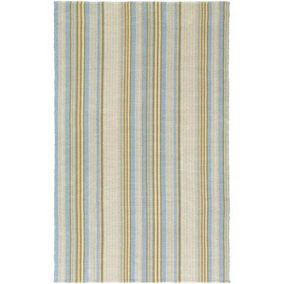 Artique Hand-Woven Blue/Yellow Area Rug Rug Size: Rectangle 3 x 5