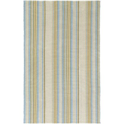 Artique Hand-Woven Blue/Yellow Area Rug Rug Size: 8 x 10