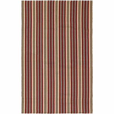 Artique Hand-Woven Green/Red Area Rug Rug Size: 3 x 5