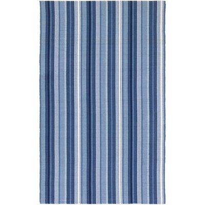 Artique Hand-Woven Blue Area Rug Rug Size: 8 x 10