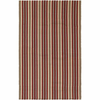 Artique Hand-Woven Green/Red Area Rug Rug Size: 2 x 3