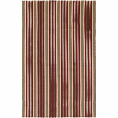 Artique Hand-Woven Green/Red Area Rug Rug Size: 5 x 8